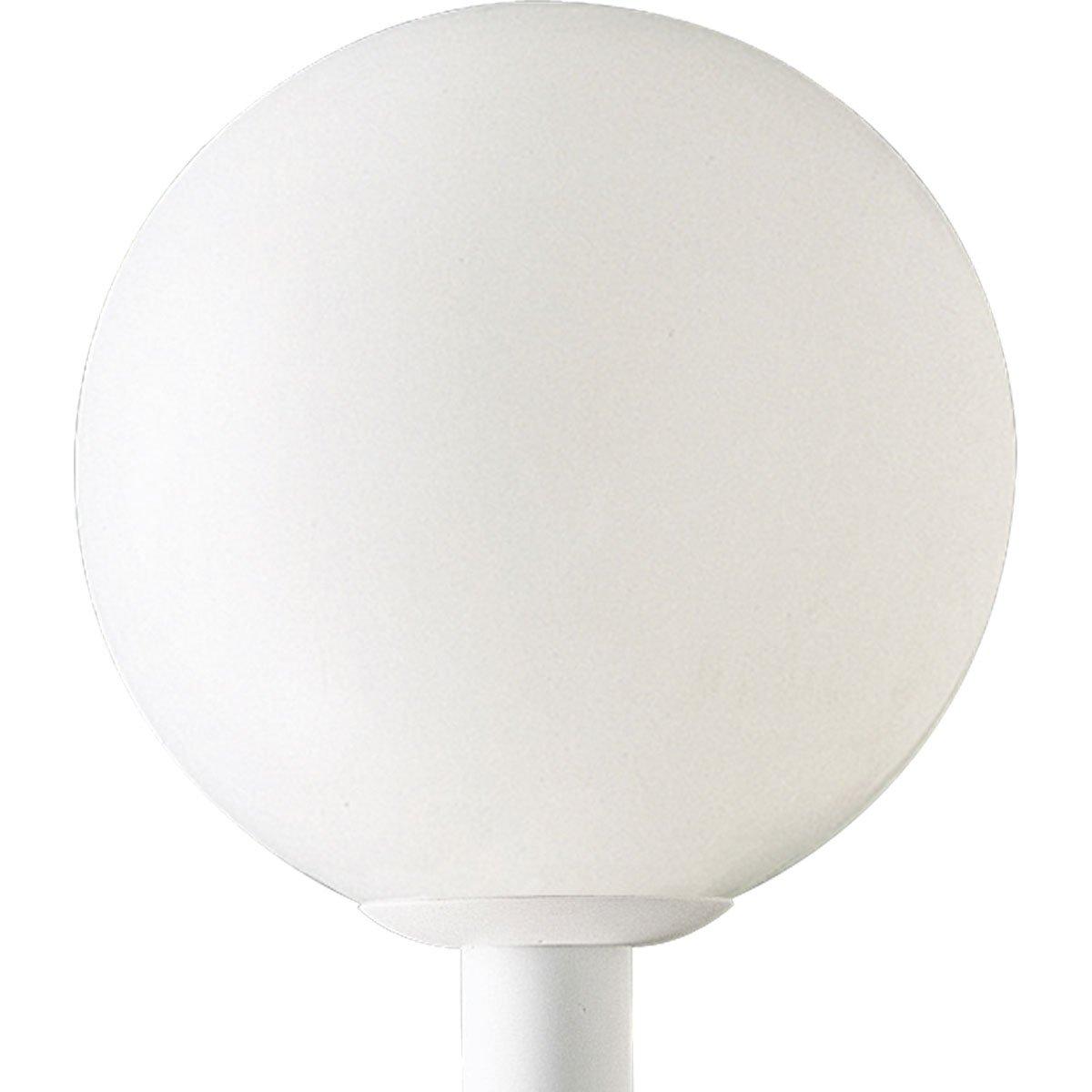 Progress Lighting P5436-60 Complete Post Lantern White Shatter-Resistant Acrylic Globe White Fitter, White