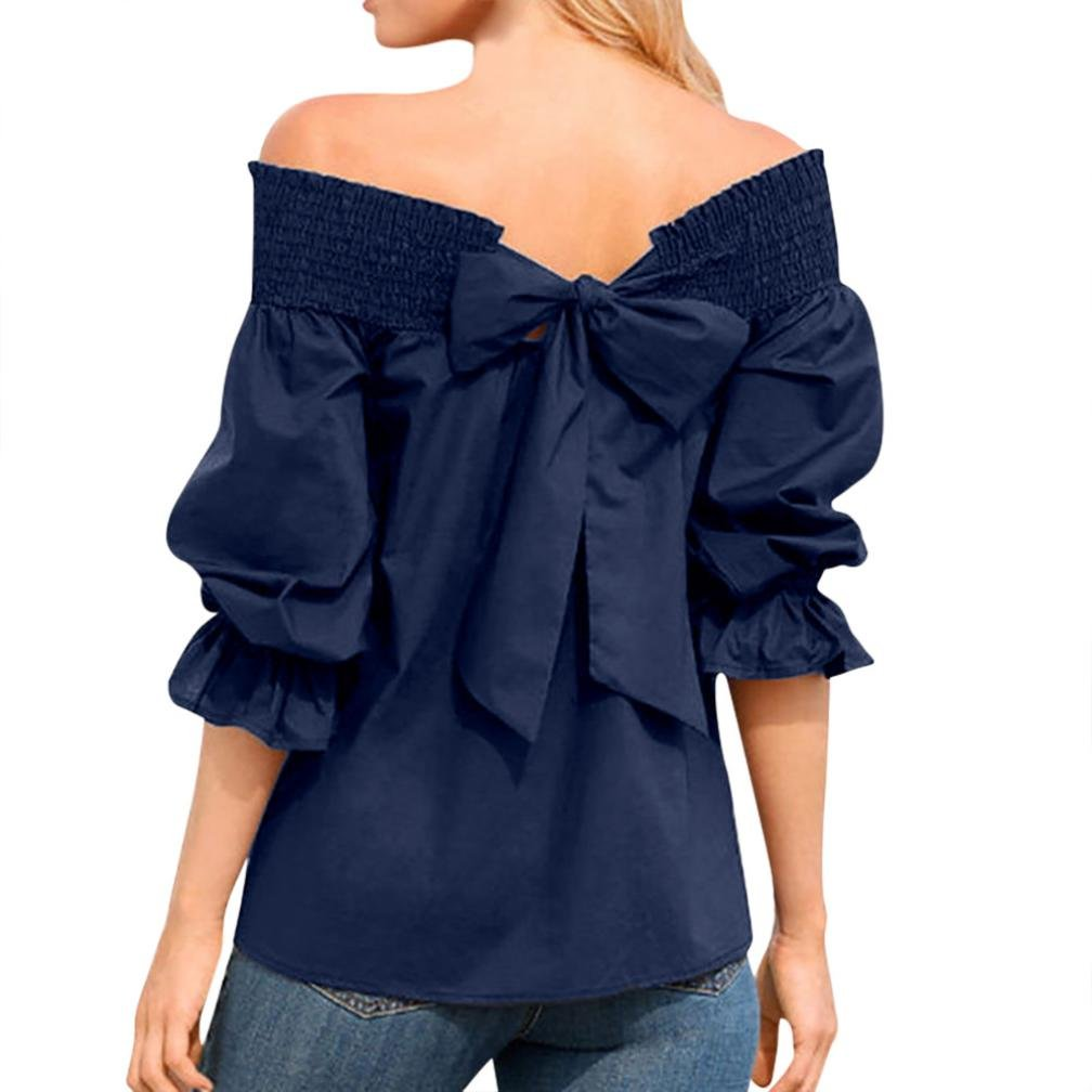 Sporting New Arrival Womens Blouses And Tops Sexy Women Cold Shoulder Tops Ladies Flare Sleeve V Neck Blouse Shirt Bandage Plaid Blouse Durable In Use Women's Clothing
