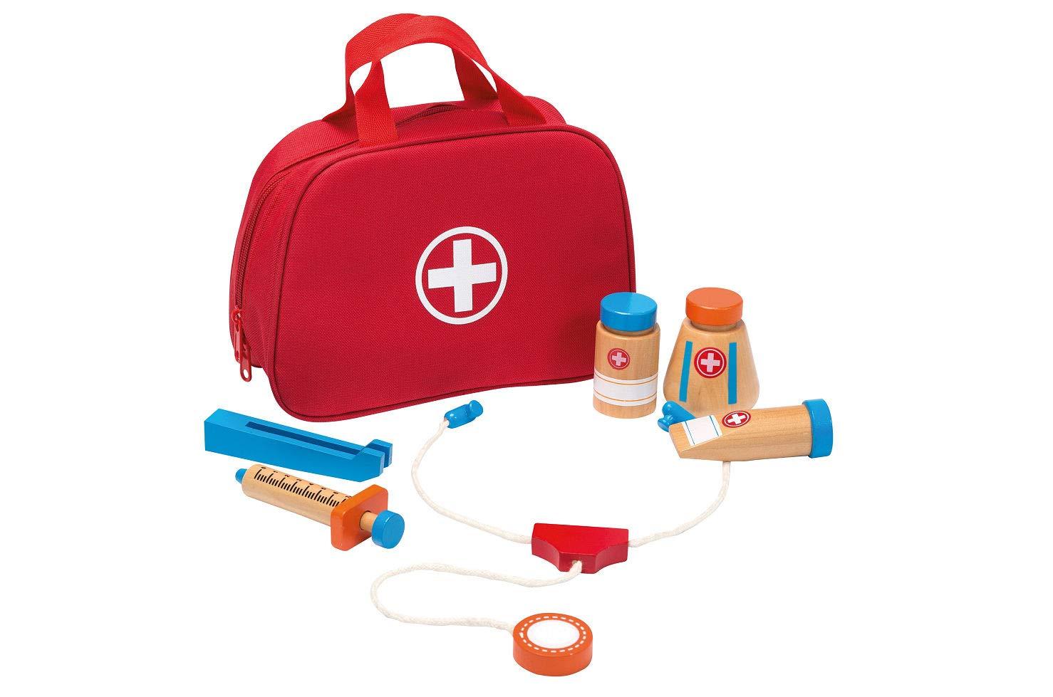 Smart Planet - Arzttasche mit Zubehören 8-teilig für Kinder zum Spielen - Jouéco® Smart-Planet