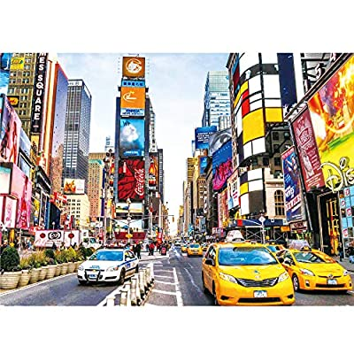Puzzle 1000 Pieces Jigsaw Puzzle for Kids & Adult - Time Square Jigsaw Puzzle (16.8 in x 11.8 in): Toys & Games