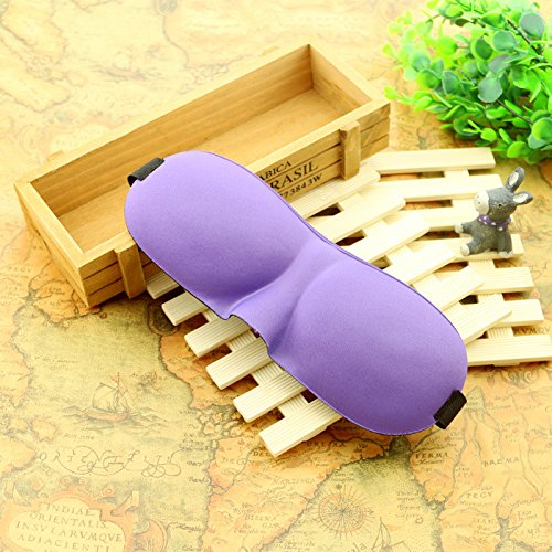 3D Portable Soft Travel Sleep Rest Aid Eye Mask Cover Eye Patch Sleeping Mask (Purple) (Guys Duo Halloween Costumes)