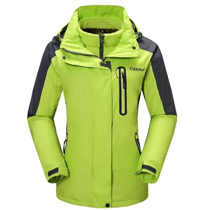 greatrees cremallera sudaderas con capucha colores de la mujer Venture chaqueta de resolver, cargo, Manga Larga, Mujer, color verde, tamaño S: Amazon.es: ...
