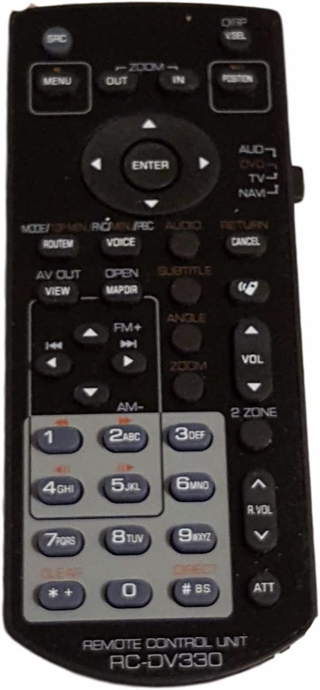 New RC-DV331 KNA-RCDV331 Replace Remote fit for Kenwood Multimedia Monitor DNX6460BT DNX6020EX DDX616 DNX6160 DDX6046BT DDX516 DNX5160 KVT-516 KVT-696 DDX896 DDX374BT DDX6703s DDX 616 DDX470