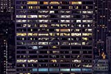 Home Comforts Framed Art for Your Wall Office Windows Exterior Building Office Building 10x13 Frame