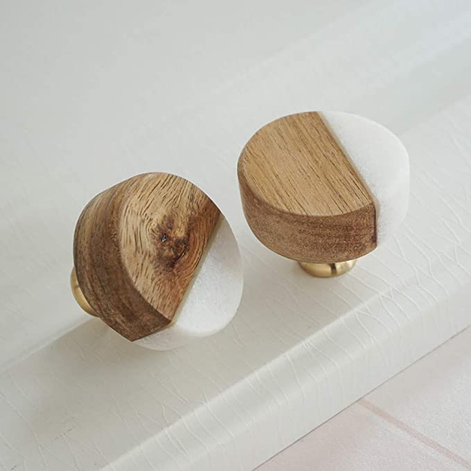 20 Pieces Superba Wood Cabinet Round Pull 35x25mm with Screws