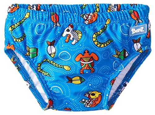 Baby Banz Baby Boys' Swim Diaper Print, Coolgardie Blue Print, 3 6 Months Small by Baby Banz