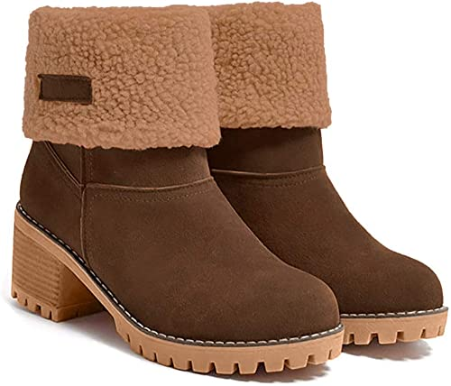 Boots Shoe/'s Read Info about Sizing New Women/'s Cozy Faux Suede Ankle Booties