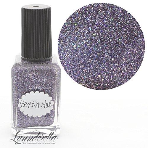 Lynnderella Micro Glitter Multi Shimmer Grey Metallic and Holographic Nail Polish—Sentimetal by Lynnderella