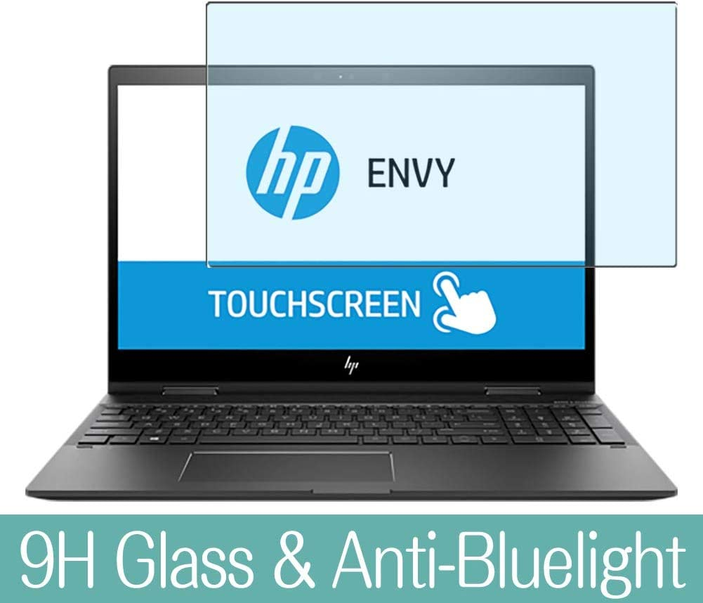 "Synvy Anti Blue Light Tempered Glass Screen Protector for HP Envy x360 15m-cp0000 / cp0011dx / cp0012dx 15.6"" Visible Area 9H Protective Screen Film Protectors"