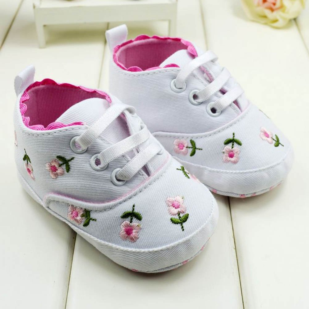Bohai Baby Kids Girls Toddler Embroidered Soft Bottom Baby Shoes