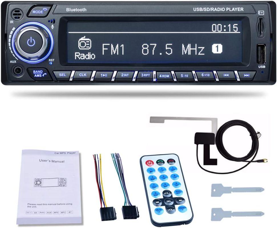 PolarLander Dab Receptor Auto Radio Estéreo Autoradio Soporte Am FM RDS Bluetooth USB SD con Antena Dab