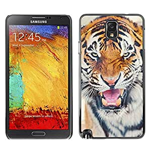 Be Good Phone Accessory // Dura Cáscara cubierta Protectora Caso Carcasa Funda de Protección para Samsung Note 3 N9000 N9002 N9005 // tiger roar angry cat big animal Africa