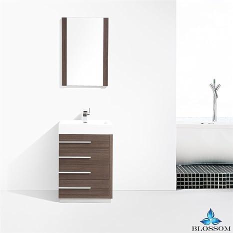 Blossom Barcelona 30 Inch Bathroom Vanity In Grey Oak Amazoncom