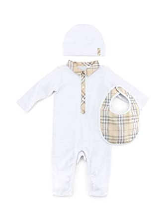 Burberry Infant Baby Carlos Boxed White Bodysuit 99088f2dff8
