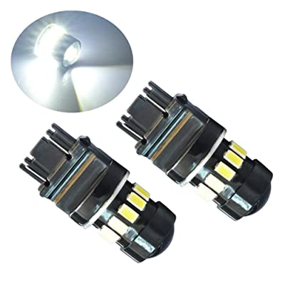 PESIC 2x 3157 3156 3057 16 SMD 5630 Reverse Backup Stop White LED Light Bulbs: Automotive