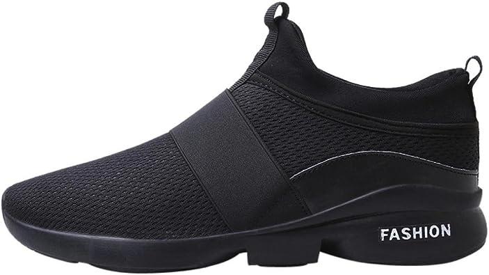 Logobeing Zapatillas de Running Hombre - Zapatillas de Malla ...