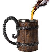Hamkaw Jarra de Cerveza de Acero Inoxidable
