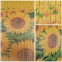"BeadedString Natural Bamboo Wood Beaded Curtain-90 Starnds-80"" High-Boho Door Beads-Bohemian Doorway Curtain-35.5"" Wx80"" H-Sunrise"