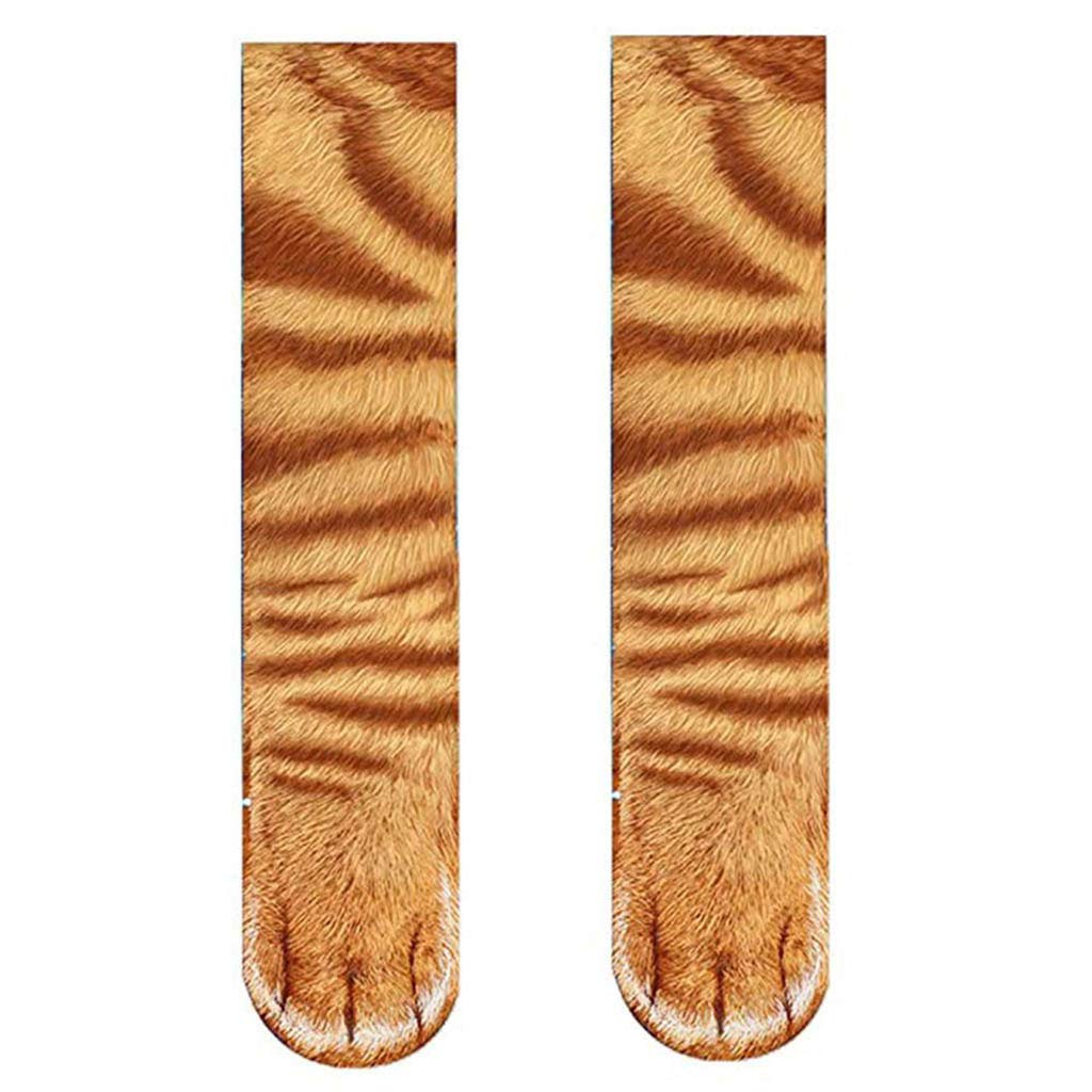 PASATO Animal Paw Socks Paw Print 3D Keep Warm Deodorant Cotton Socks Novelty Animal Paws Crew Socks for Men Women Kids(Multicolor-L,Free Size)