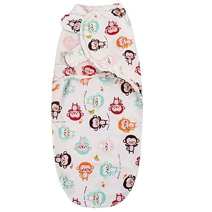 Uzinb bebé recién Nacido Cartoon Swaddle Wrap bebé algodón Manta de recepción Bolsa Saco bebé Dormir