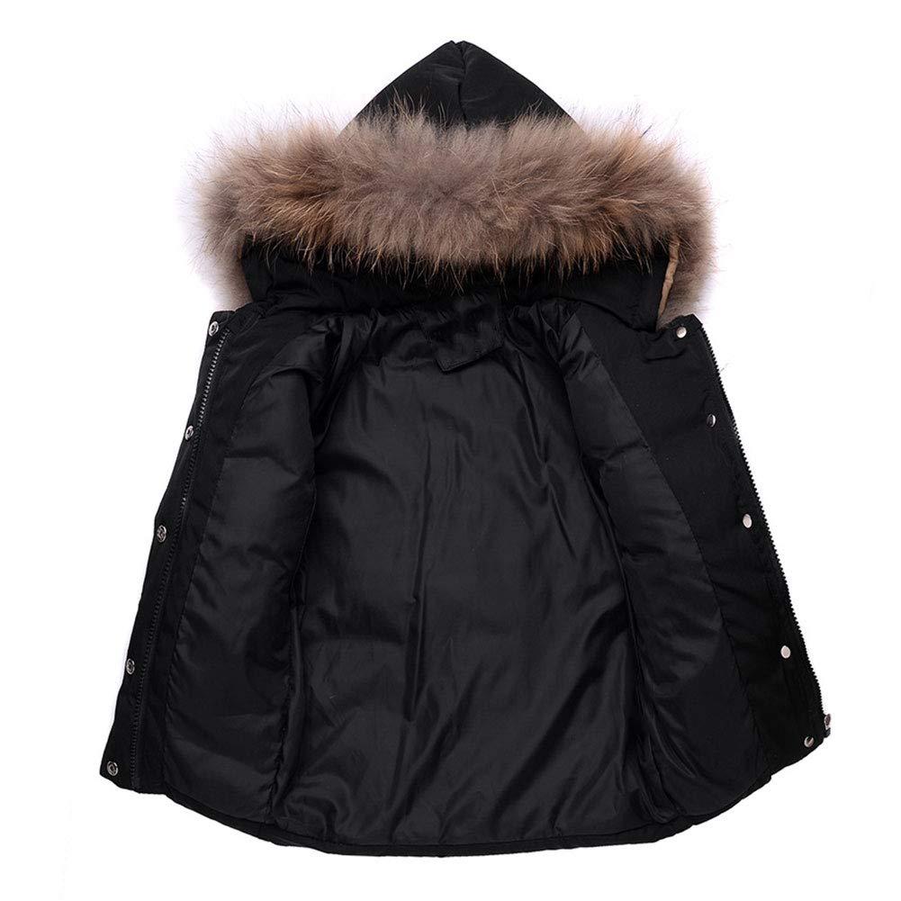 LPATTERN Parka /à Capuche Rembourr/é Combinaison de Neige Ski Doudoune B/éb/és Filles Gar/çons Manteau de Duvet Hiver avec Salopette Coupe-Vent /Épais 2PCS 0-3 Ans