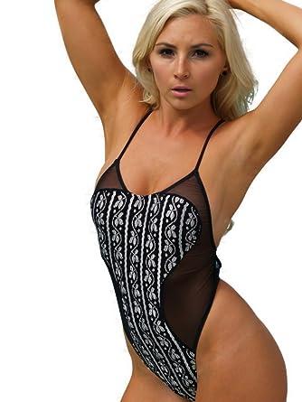bef53856e6 Brigitewear La Maille Sheer Mesh One Piece Rio swimsuit at Amazon ...