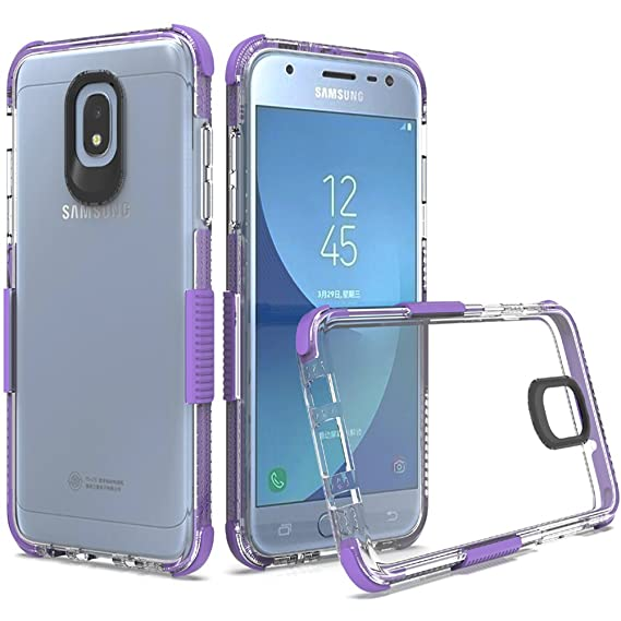 on sale 20291 79b33 for Samsung Galaxy J3 2018 Case, J3V 3rd Gen Case, Express Prime 3/J3  Star/Amp Prime 3/J3 Achieve Case, Dretal Shock Absorption TPU Protective  Cover ...