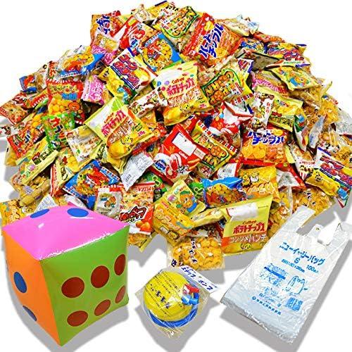 【お祭りイベントBセット200】サイコロゲーム駄菓子スナック菓子200袋詰め合わせセット(サイコロ、ポンプ、持帰り袋付)
