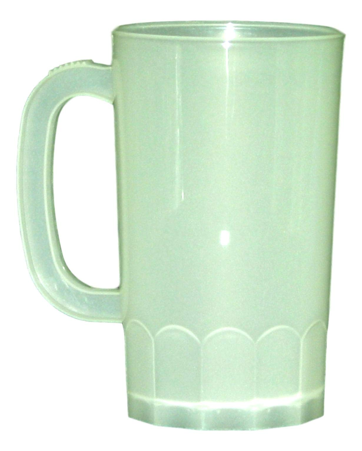 Plastic Beer Mugs, Large 32 Oz, Pack 8, Color Frosted