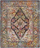 Safavieh Crystal Collection CRS507H Navy and Light Blue Distressed Bohemian Medallion Area Rug (8' x 10')