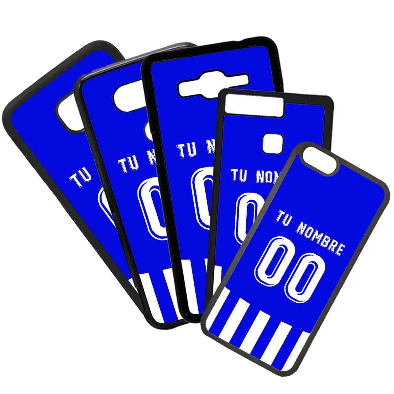 Funda de Movil Carcasa de Moviles Fundas Carcasas de TPU Compatible con el movil Huawei P9 Plus Modelo Camiseta de Futbol Deportivo Alaves con El Nombre y ...