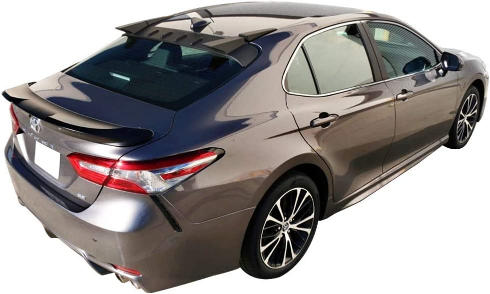 Matte Black Rear Spoiler Splitter Valance Canards Chin Bodykit by IKON MOTORSPORTS Roof Spoiler Compatible With 2018-2020 Toyota Camry