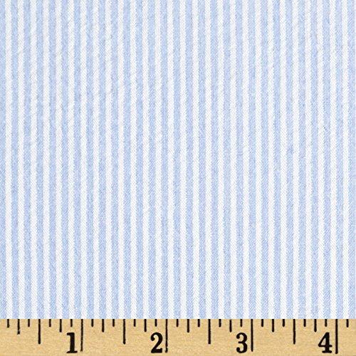 (Richland Textiles Cotton Seersucker Stripe Blue/White Fabric By The Yard)