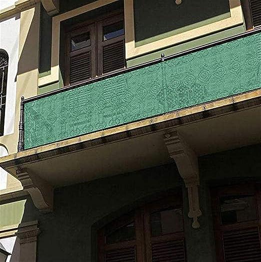 Liveinu Frangivista e Telo Frangivento Protezione per Balconi con Occhiell Copertura per Balcone Terrazzo Giardino Arancione 75x100cm