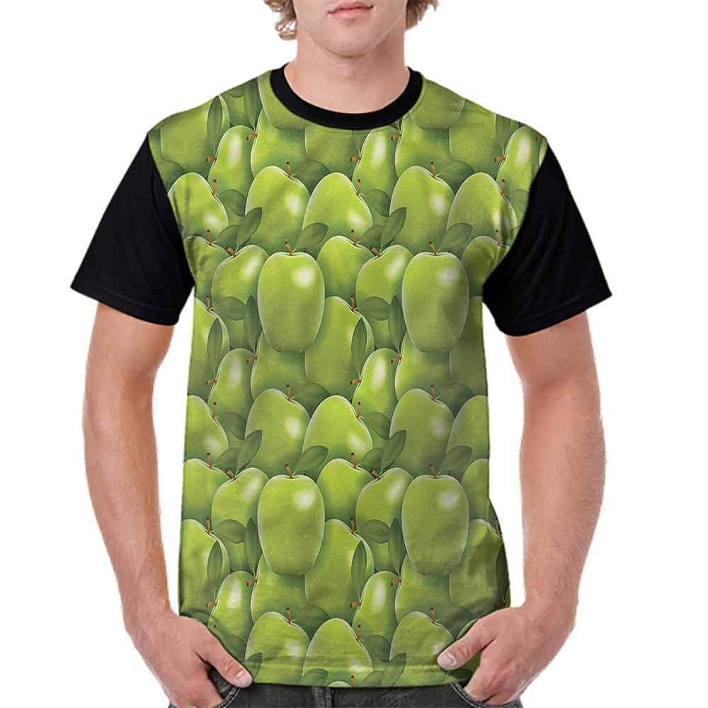 BlountDecor Teen t-Shirt,Curved and Dotted Fruit Fashion Personality Customization
