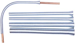 Wostore Spring Tubing Benders Kit for Pipe O.D. 1/4, 5/16, 3/8, 1/2, and 5/8 Inch 5 in 1 Tube Bender Set