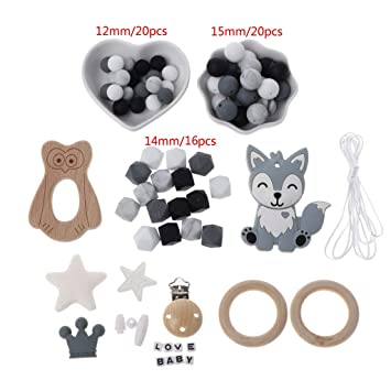 Baby Teethers Big Eyes Cat Teething Silicone Nursing Necklace Pendants