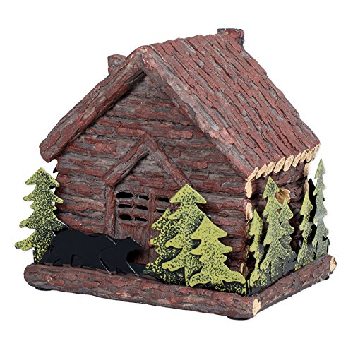 Log Cabin with Bear Standing Table Night Light
