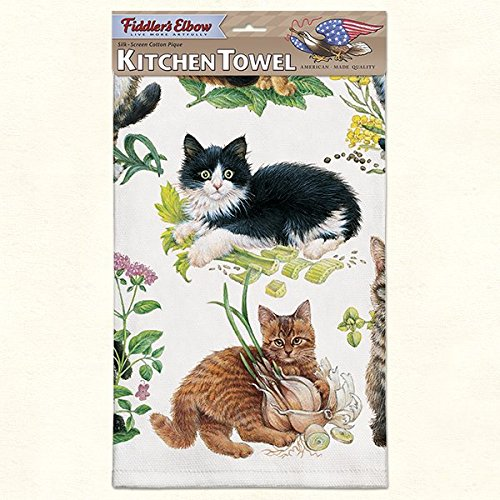 (Fiddler's Elbow Kitchen Towel--Mixed Kittens--22