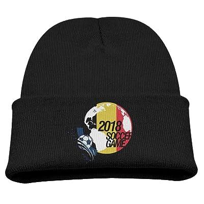 2018 Soccer Game Belgium Boy Girls Beanies Hats Outdoor Skull Caps