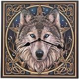 Puckator CKP36 Lisa Parker Horloge Imprimée Tête de Loup Celtique 3 x 29 x 30 cm