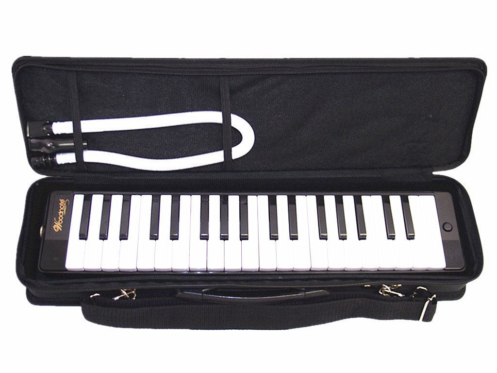Woodnote Beautiful Black 37 Key Melodica with Carrying Case by Woodnote