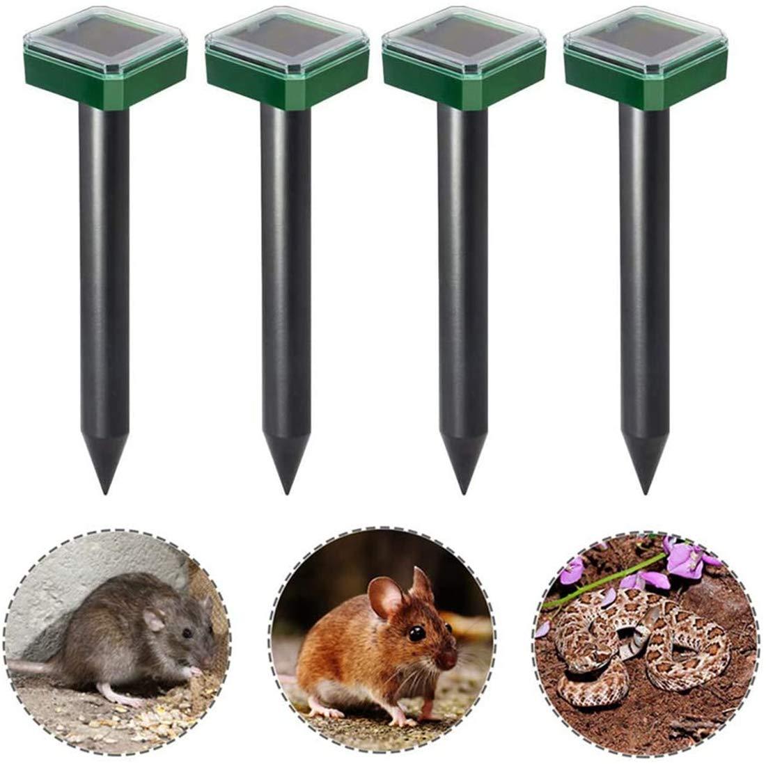 Nuevo repelente solar ultrasónico de topos, repelente de topos, topos, ratones y ratas, control de plagas sónico para roedores, disuasión de topos, control de animales a prueba de agua para jardí