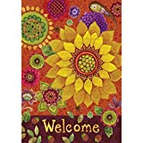 Fall Floral – STANDARD Size, 28 Inch X 40 Inch, Decorative Double Sided Flag MADE IN USA by Custom Décor Inc. For Sale