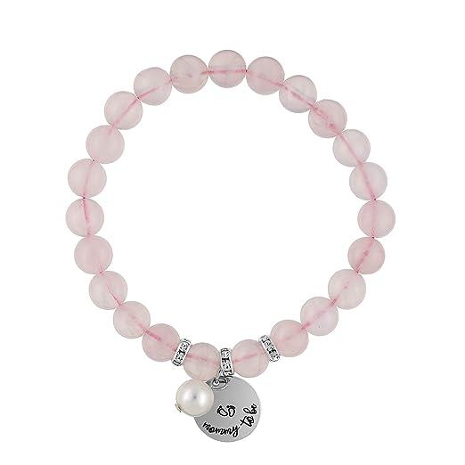 Mommy to Be Gift: Rose Quartz - Baby Bonding Bracelet