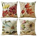 Decorative Pillow Cover - WOMHOPE 4 Pcs - 17