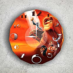 The Lion King – Disney 11.4'' Handmade Wall Clock - Get unique décor for home or office – Best gift ideas for kids, friends, parents and your soul mates