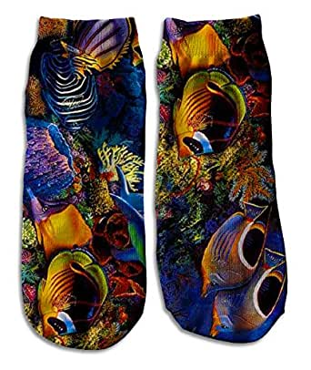 Custom Ankle Socks customized sport - tropical fish