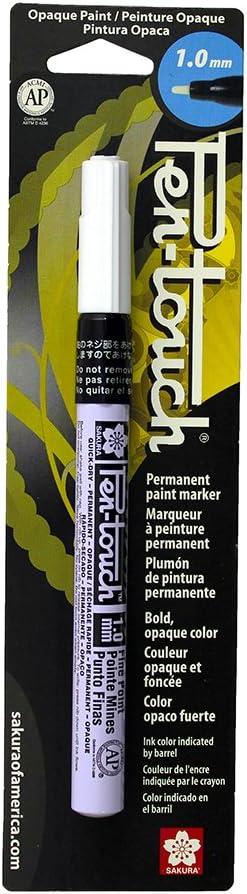 Sakura 42380 Pen-Touch White 1mm Fine Opaque Permanent Paint Marker