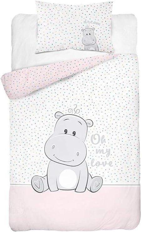 Juego de ropa de cama para bebé, 2 piezas 100 % algodón. Tamaño ...
